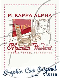 Mountain Weekend Pi Kappa Alpha rocking chair outdoors #grafcow