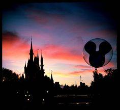 Magic Kingdom Sunset - It's a Disney World