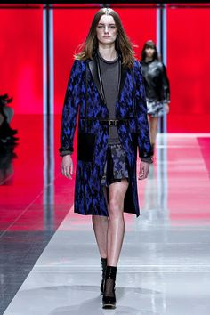 Blue Military Camouflage Pattern #Coat #Fashion #Trend for Fall Winter 2013   Christopher Kane F/W 2013 #military #style #trends #trendy