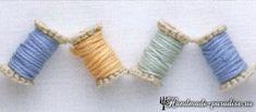 Вязание крючком гирлянды из катушек. Декоративную гирлянду из катушек с нитками можно связать для декорирования своего рабочего места для рукоделия.
