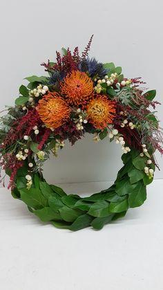 Funeral Flowers, Wreaths, Fall, Home Decor, Autumn, Decoration Home, Door Wreaths, Fall Season, Room Decor