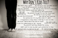 When we don't have the courage to talk openly and often about sexual abuse with our children - we shouldn't be surprised when children do not tell.