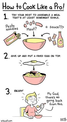 How to Cook Like a Pro - http://dashburst.com/humor/how-to-cook-like-a-pro/