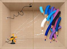 """Saatchi Art Artist Adrià Pina; Painting, """"Capsa, del ventilador"""" #art"""