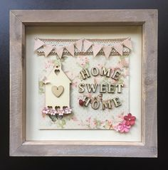 Home Sweet Home Box Frame #housewarming #handmade #unique #homesweethome #homely #newhome #floralmusegifts Deep Frame Ideas, Deep Box Frames, Scrabble Crafts, Scrabble Frame, Scrabble Tiles, Diy Shadow Box, Shadow Box Frames, 3d Frames, Box Frame Art