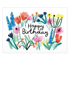 Wrap Paper Birthday Floral Karte