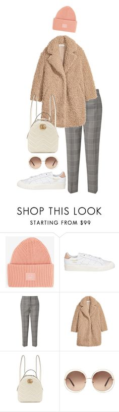 """Untitled #678"" by milly-oro on Polyvore featuring Acne Studios, adidas, Jigsaw, H&M, Gucci and Chloé"