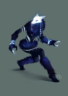 Another animal masked celestial character design for story development course.