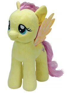 My Little Pony, Fluttershy -pehmo Ota ujo ja kiltti eläintenystävä Fluttershy hellään huomaasi. Liikuttavan ihanan pehmolelun korkeus on 33 cm.