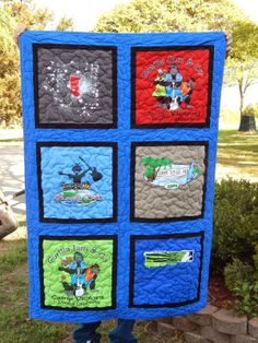 The Fleming's Nine: T-Shirt Quilt a Different Way!