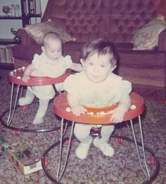 Baby Walkers. Used this for both of my girls.  They were a bit dangerous but the girls loved using it!!!