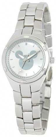 DISNEY Disney Mickey Mouse Womens Stainless Steel Watch Easily recognizable by the iconic silhouette on the dial, this Mickey Mouse watch is offers timeless appeal Mickey Mouse Watch, Disney Mickey Mouse, Disney Disney, Disney Stuff, Pandora Bracelet Charms, Pandora Jewelry, Silver Jewelry Cleaner, Disney Jewelry, Stainless Steel Watch
