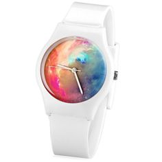 Stylish Quartz Watch Oil Painting Pattern Analog Indicate Rubber Watch Band for Women, WHITE in Women's Watches | DressLily.com