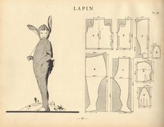'lapin' costume pattern