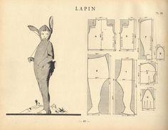 'lapin' costume pattern