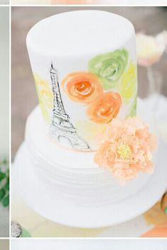 This cake is nearly perfect! Paris ☑ Green☑ Orange☑