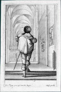 Abraham Bosse d'après Jean de Saint-Igny (v. 1597-1647) La Noblesse française à l'église, v. 1629 : Un homme marchant vers la droite
