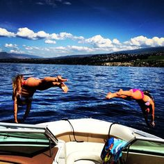 Saturday day trip fun in the sun ! Family time - life is better at the lake !