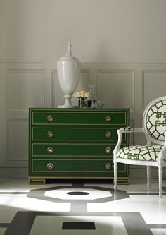 Shop the Karl Drawer Chest by Lillian August Fine Furniture at Furnitureland South, the World's Largest Furniture Store and North Carolina's Premiere Furniture Showroom. Colorful Furniture, Large Furniture, Quality Furniture, Painted Furniture, Green Furniture, Furniture Styles, Furniture Ideas, Hickory White, Lillian August