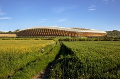Forest Green Rovers Stadium by Zaha Hadid Architects  Rendering by Zaha Hadid Architects