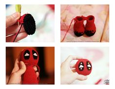 Free crochet pattern deadpool. Amigurumi free crochet pattern for DeadPool. Schema gratuita jucarie crosetata. Jucarie Deadpool