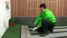 Cómo instalar un suelo de lamas de composite en tu jardín - Leroy Merlin