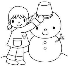 Maestra de Infantil: El invierno. Dibujos para colorear.