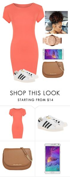"""""""spring needs to hurry up"""" by quoiac ❤ liked on Polyvore featuring WearAll, adidas Originals, MICHAEL Michael Kors, Samsung and Michael Kors"""
