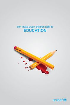 Unicef - Dont take away children rights on Behance - A project by Creative Poster Design, Ads Creative, Creative Posters, Creative Advertising, Graphic Design Posters, Advertising Design, Advertising Campaign, Social Media Poster, Social Media Design