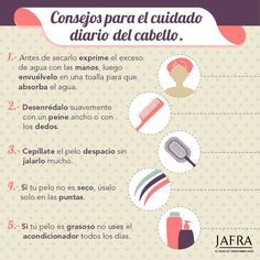 Foto: Consejos para el cuidado del #cabello Beauty Care, Beauty Makeup, Beauty Hacks, Hair Beauty, Body Treatments, Tips Belleza, Belleza Natural, Messy Hairstyles, Good Skin