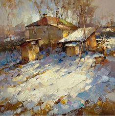Alexei Zaitsev.  Painting palette knife.  Picture eighth