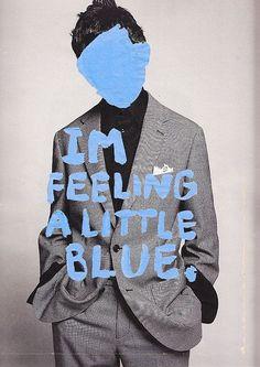 feeling blue art journal page