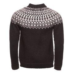 ICEWEAR Elis Mens Sweater Lopapeysa Design 100/% Icelandic Wool Long Sleeve Winters Sweater Without Zipper