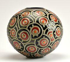 Circle Doodle - Black: Boyan Moskov: Ceramic Vessel - Artful Home