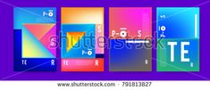 Colorful abstract geometric poster and cover design. Minimal geometric pattern gradients. Eps10 vector
