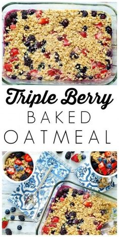 Triple Berry Baked O