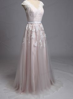 100% Handmade Lace Wedding Dress Cap Sleeves Formal Long Wedding Gown Blush Lining Bridal Lace Dress For Wedding ZP7 Rush order link : https://www.etsy.com/listing/204394416/rush-order-for-the-custom-made-dresses?  Fabic/color sample link: https://www.etsy.com/listing/202864583/color-sampleschiffon-fabric-swatch?ref=shop_home_active_1  Size/Measurements Chart link : https://www.etsy.com/listing/209673829&#x2F...