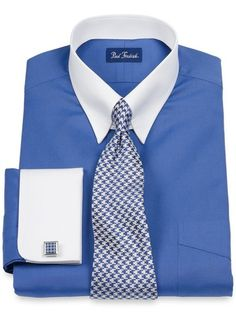 This fratello men 39 s french cuff dress shirt comes in multi for Mens eyelet collar dress shirts