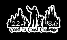 DUAL LAYER Coast to Coast Decal with Distances by RunnersBling
