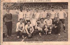 Postal de la selección uruguaya, campeona del mundo 1928. Cortesía de los Cigarrillos Guerrillero.