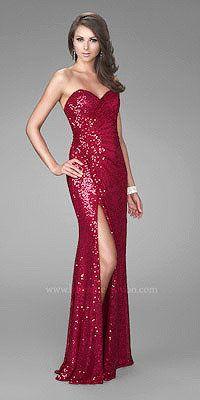 Very Jessica Rabbit! La FemmeSlinky Sequined Evening Gowns