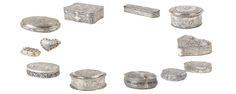 A selection of silver boxes, niello tobacco and niello cigarette cases - Germany and Russia XIX century