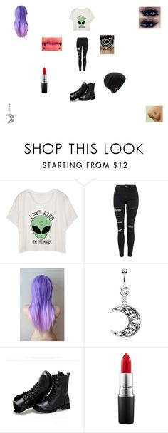 """Uhh I dont know..Its like 12:05 AM so..."" by funny-babe02 on Polyvore featuring Topshop, Sunsteps, MAC Cosmetics and Coal"