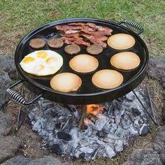Campfire Griddle Grill  http://www.campingworld.com/shopping/item/campfire-griddle-grill/78849  About $70