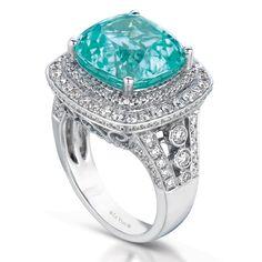 【Jewelry in My Box】Le Vian Neon Blue Paraiba Tourmaline ring