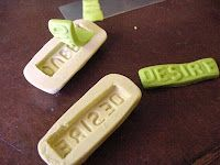How to make word molds from polymer clay. Awesome!!