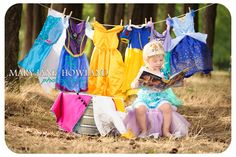 Child Photography, Princess Photo Shoot, Princess Child Photography, Princess Photos, Princess doing Laundry