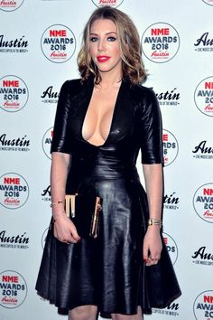 Actress Katherine Ryan ensured all eyes were on her as she put her ample assets on display in sexy leather dress as she was… Katherine Ryan, Black Leather Dresses, Beautiful Celebrities, Beautiful Women, Sexy Women, Celebs, Street Style, How To Wear, Awards