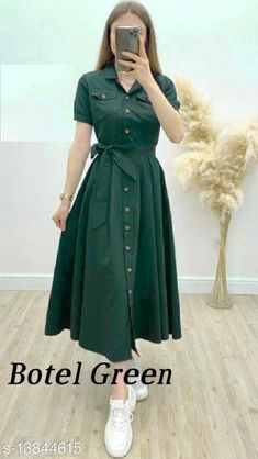 Dresses Fancy Fashionable Women Dresses Fabric: Rayon Sleeve Length: Three-Quarter Sleeves Pattern: Dyed/ Washed Multipack: 1 Sizes: S (Bust Size: 36 in, Length Size: 52 in)  XL (Bust Size: 42 in, Length Size: 52 in)  L (Bust Size: 40 in, Length Size: 52 in)  M (Bust Size: 38 in, Length Size: 52 in)  XXL (Bust Size: 44 in, Length Size: 52 in)  Country of Origin: India Sizes Available: S, M, L, XL, XXL, XXXL   Catalog Rating: ★4.2 (3188)  Catalog Name: Fancy Glamorous Women Dresses CatalogID_2733265 C79-SC1025 Code: 354-13844615-4641