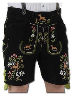 Lederhosen -- leather shorts with suspenders.  Didn't get a pair of these, but I did get a dirndl dress while in Munich.
